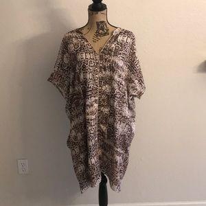 Halston snake skin tunic dress XL